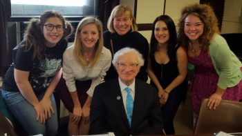 Sheldon Harnick with cast