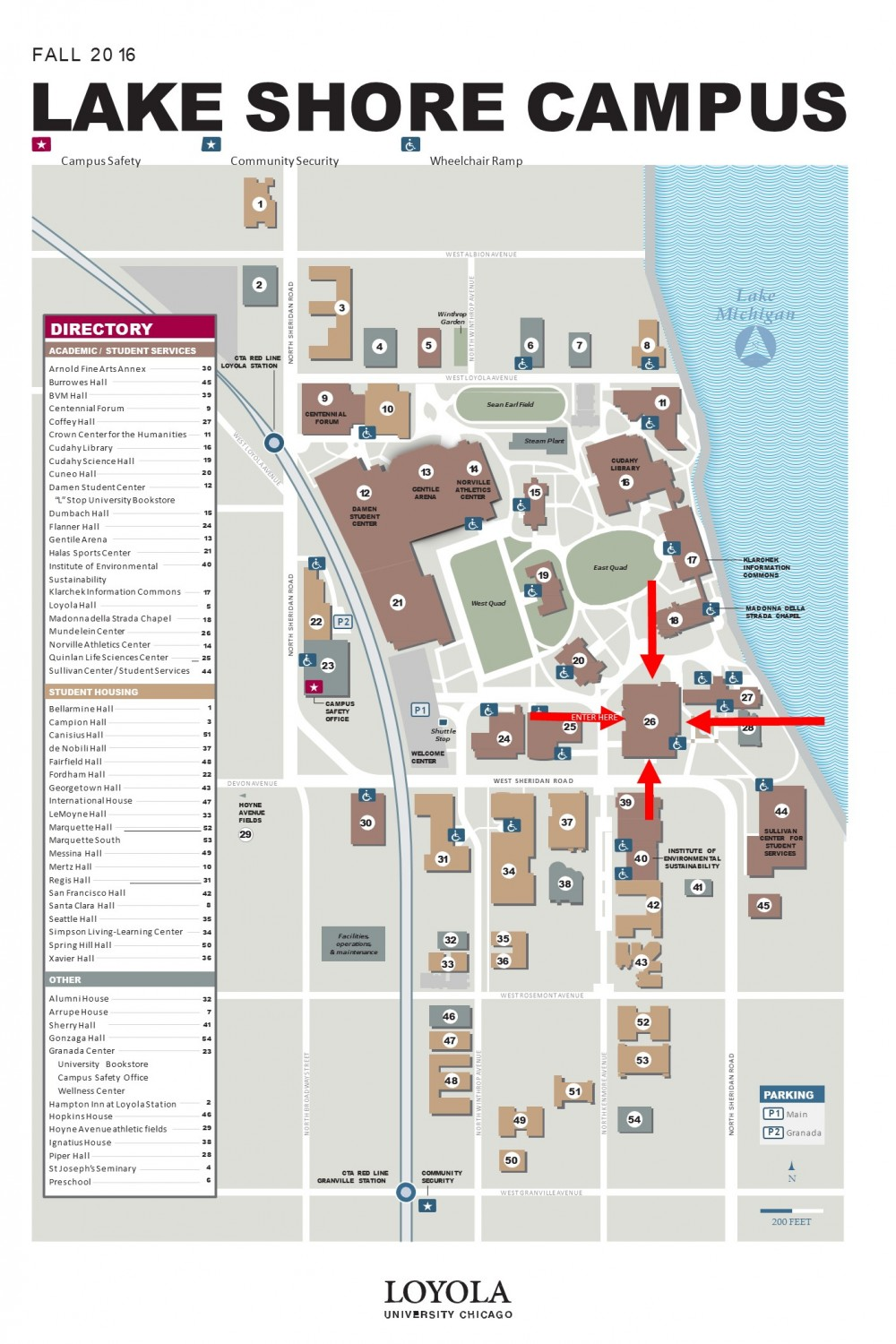 Loyola University Lake Shore Campus Map – NUMBERS N3RDS
